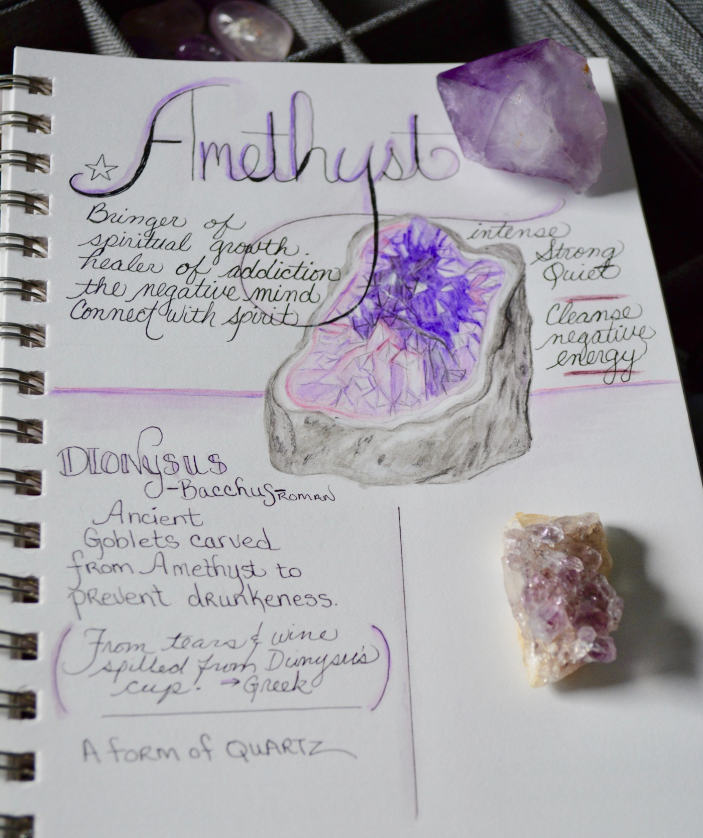 February crystal of the month is amethyst, crystal bringer of spiritual growth.