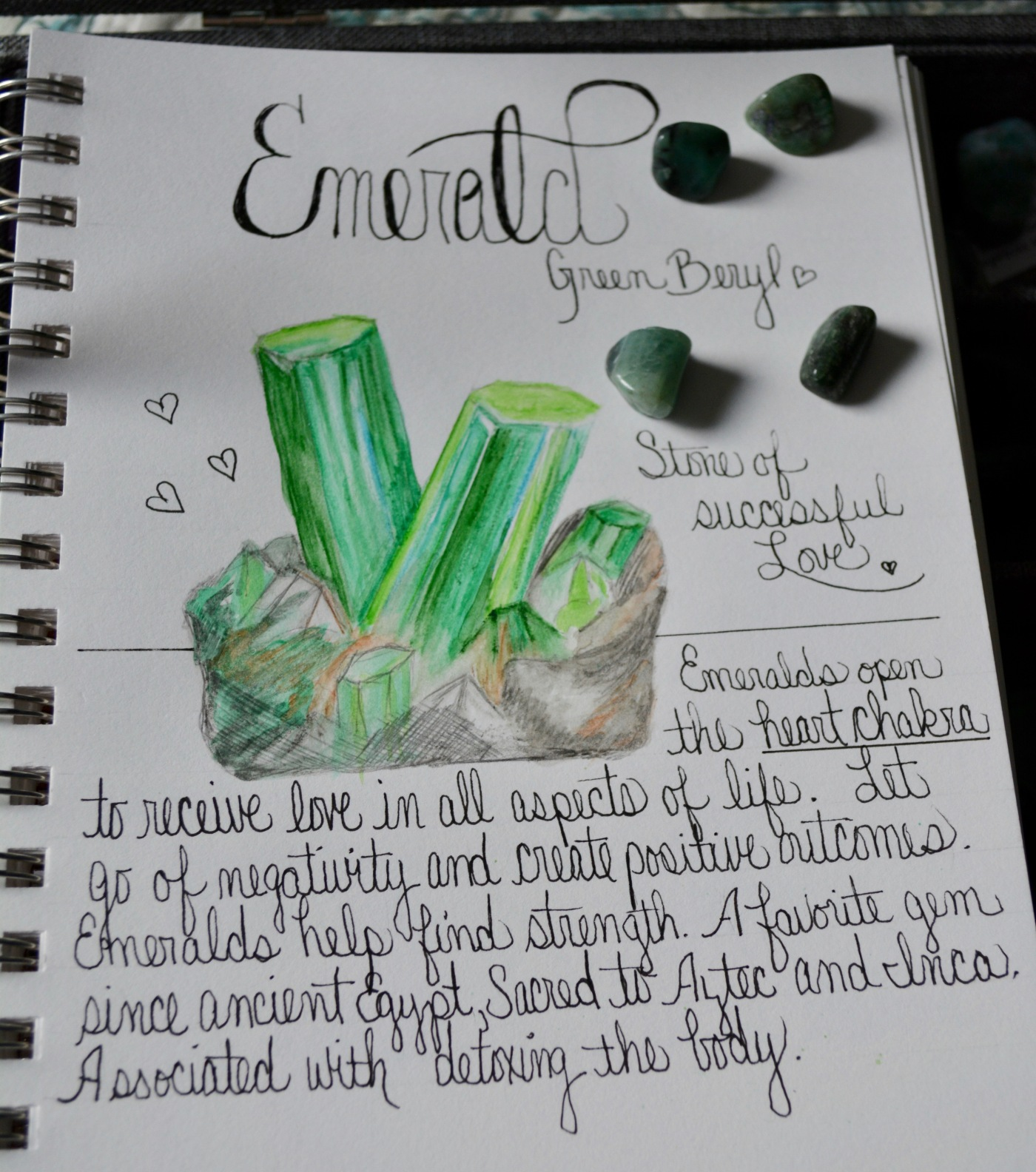 Stone of successful love, May's crystal of the month is emerald.